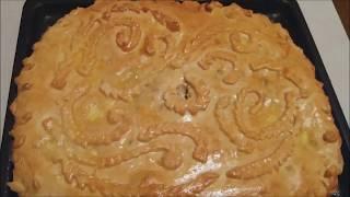 Украшение пирога из дрожжевого теста