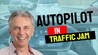 Nick's Tesla - Auto Pilot in a Traffic Jam