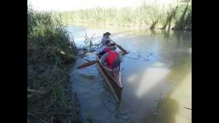 preview picture of video 'Partanna, costruzione e varo canoa canadese.'