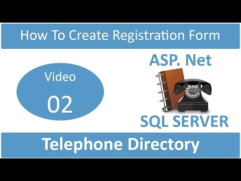how to create registration page in telephone directory
