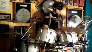 High Priest of Rythmic Noise on drums