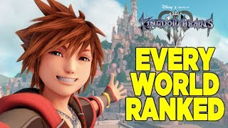 Kingdom Hearts 3: Every Disney World Ranked From Worst To Best