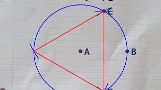 Constructing An Equilateral Triangle Inside A Given Circle