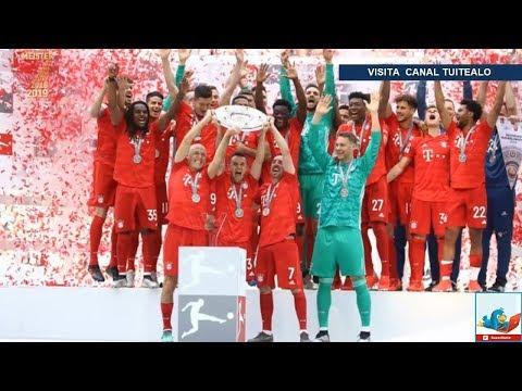 Bayern Munich golea 5-1 al Eintracht Frankfurt y gana su septima Bundesliga consecutiva