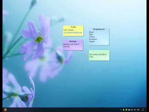 Accessing your sticky notes in different ways