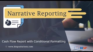 Narrative Reporting Cash Flow Report with Conditional Formatting | Oracle Narrative Reporting