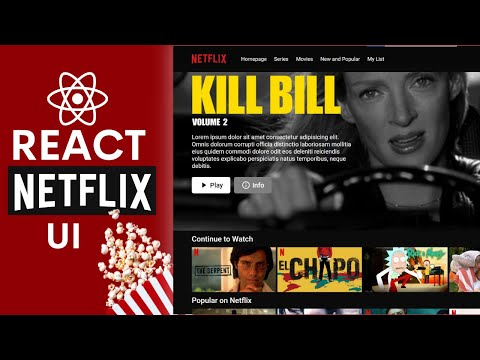React Netflix Movie App Design Tutorial | React UI Full Course for Beginners