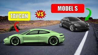 Porsche Taycan vs Tesla Model S Detailed Spec Comparison   0-60   Horsepower   Price