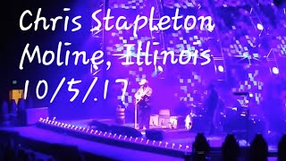 "Chris Stapleton ""Learning to Fly"" (Tom Petty cover) 10/5/17 Moline, Illinois"