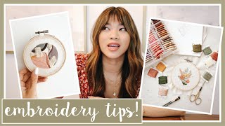 EMBROIDERY Q&A - Answering Your Embroidery Questions! Helpful Tips For Beginners & How To Embroider