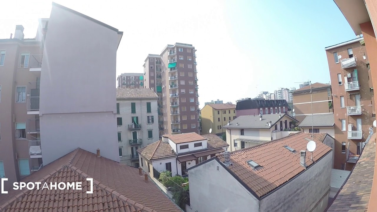 Single Bed in Rooms in 1-bedroom apartment to rent in green and laid-back Sesto San Giovanni