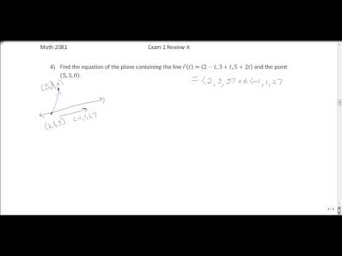 Multivariable Calculus Exam 1 Review Problems (Part 1) - YouTube