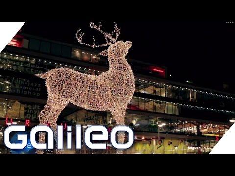 Weihnachtsbeleuchtung: Woher kommt die Riesen-Deko? | Galileo Lunch Break