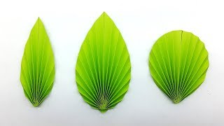 3 Easy DIY Paper Leaves Making Instructions (Paper Leaf Pattern)