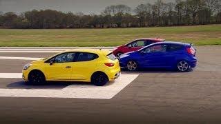 Peugeot 208 GTi vs Renault Clio 200 Vs Ford Fiesta ST - Top Gear - Series 20 - BBC