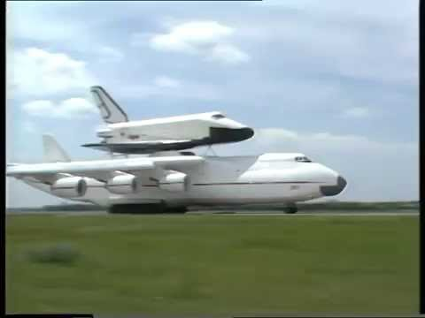 "Antonov AN-225 ""Mriya"" is  taking off with Buran space shuttle."