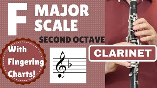 CLARINET F Major Scale | 2nd Octave SLOW