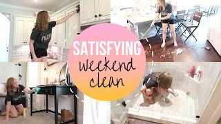 SATISFYING WEEKEND CLEAN WITH ME | SPEED CLEAN MY HOUSE | ULTIMATE DOWNSTAIRS CLEAN | SAHM