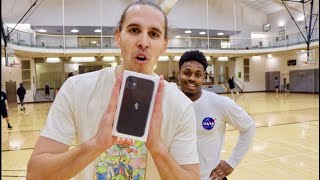 Giving Random People An iPhone 11 If They Make A Free Throw!