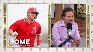 Mike Trout Is Having A REALLY Good Day | The Jim Rome Show