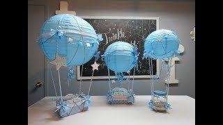 Baby Shower Series Project 5: Hot Air Balloon Centerpiece