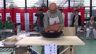 武蔵の国そば打ち名人戦予戦佐藤みゆき選手20131025104336
