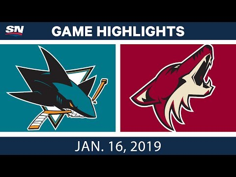NHL Highlights | Coyotes vs. Sharks - Jan. 16, 2019