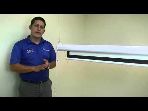 Cómo configurar la subida y bajada de un telón eléctrico?