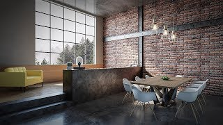 Loft Interior Room Tutorial (Best 3dsmax Render)