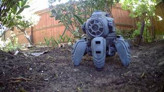 RC FPV TIE Walker in the garden...