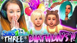 🎁🎁🎁THREE BIRTHDAYS!?🎁🎁🎁 (The Sims 4 IN THE SUBURBS #25! 🏘)