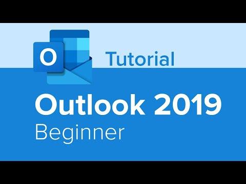 Outlook 2019 Beginner Tutorial