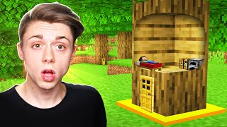 How to Build a Minecraft House INSIDE a TREE!