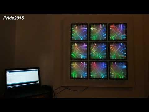 These side glow fiber optic panels make beautiful wall decor