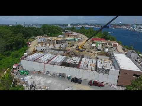 July 2018 Aerial Progress Video Peirce Island WWTF Project