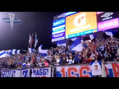 """""""Barra Los Cruzados en partido vs U. Española (2018)"""" Barra: Los Cruzados • Club: Universidad Católica"""