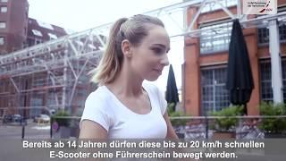 Video Film Sicher unterwegs mit dem E-Scooter - Fahrradunfälle