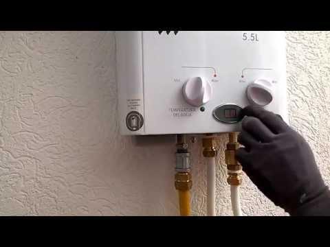 Fallas básicas en un calentador de agua a gas,  recomendaciones de uso