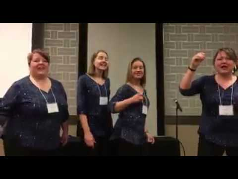 Sibling Rivalry having fun in January 2017 at a Regional Weekend in Sweet Adelines Region 8.