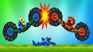 DRIVE AHEAD #5 Битвы на тачках веселый мультик игра для детей Разбей голову противнику