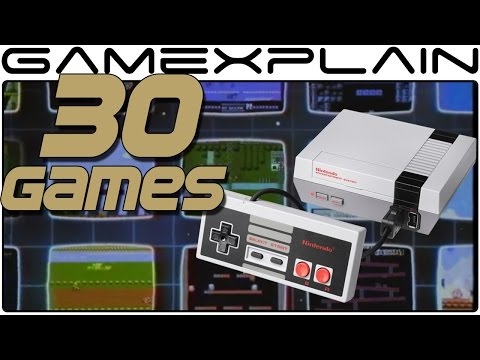 NES Classic Edition: 1 Minute of All 30 Games (Gameplay)