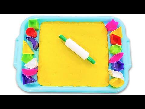 Kinetic Sand for Kids | Учим Геометрические Фигуры