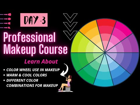 DAY 3 | ❗ONLINE MAKEUP COURSE | COLOR WHEEL 🟣 |Complete SELF Professional Makeup Course