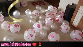 Birthday Surprise Ideas For Girlfriend | Romantic Room Decoration