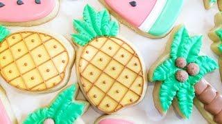 Tropical Pineapple Decorated Sugar Cookies On Kookievision
