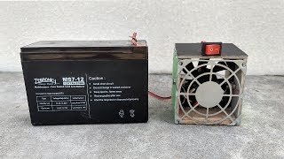 How to Make a Room Heater With 12v Battery & Fan | DIY