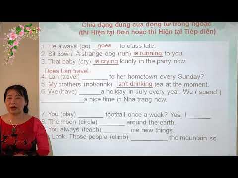 Tiếng anh 9: Cách dùng các thì của động từ trong tiếng anh - Tp Lào Cai