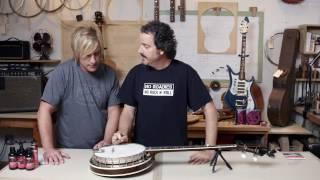 D'Addario EJS57 5-String Banjo Set Stainless Steel, Medium (.011 .012 .013 .022w .011)