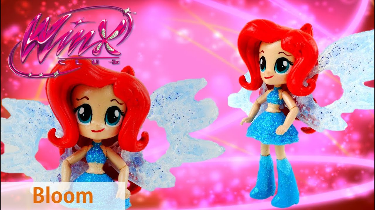 New Winx Club Bloom Doll Tutorial DIY with Resin Fairy Wings - MLP Equestria Girls Custom