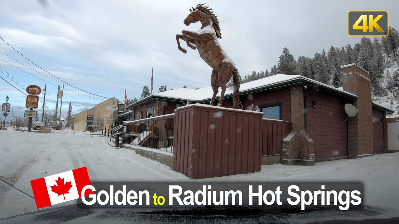 Winter Driving in Canada – Golden to Radium Hot Springs in 4K